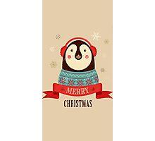 Penguin: Merry Chrismas Photographic Print