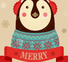 Penguin: Merry Chrismas Sticker