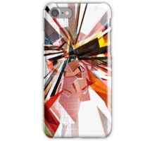 Colorful Geometric Shapes With Text  iPhone Case/Skin