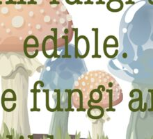 Edible Fungi Sticker