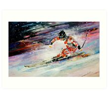 Skiing 01 Art Print