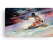 Skiing 01 Canvas Print