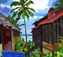 Tiririca Beach Shacks by Douglas Simonson