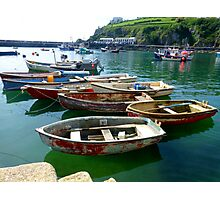 Mevagissey Dinghies Photographic Print