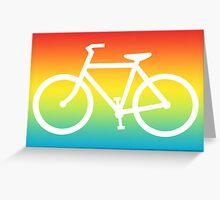 bike silhouette Greeting Card
