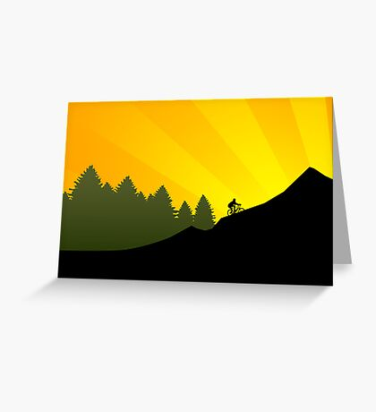 sunset biking Greeting Card