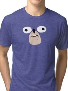 Sonic The Hedgehog: Derp Face Tri-blend T-Shirt