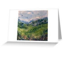 Mountain Field 3 Greeting Card