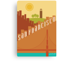 Sunny San Francisco Canvas Print