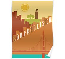 Sunny San Francisco Poster