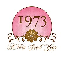 Beautiful 1973 Birthday or Anniversary Gift by thepixelgarden