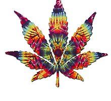 Tie Dye Pot Leaf by turfinterbie