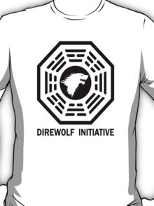 lost game of thrones direwolf initiative  T-Shirt