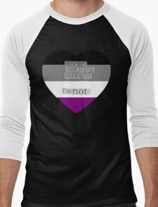 Let's get one thing straight, I'm not - Asexual heart flag Men's Baseball ¾ T-Shirt