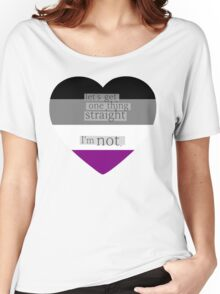 Let's get one thing straight, I'm not - Asexual heart flag Women's Relaxed Fit T-Shirt