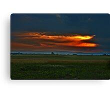 Sunset over Battlefield Canvas Print