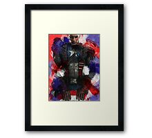 Captain America edit + watercolour effect Framed Print