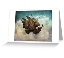 The Flying Merchant Greeting Card