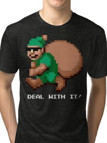 Deal With It! Green Elf v2 Tri-blend T-Shirt