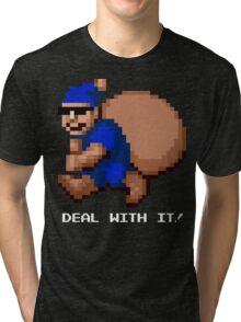 Deal With It! Blue Elf v2 Tri-blend T-Shirt
