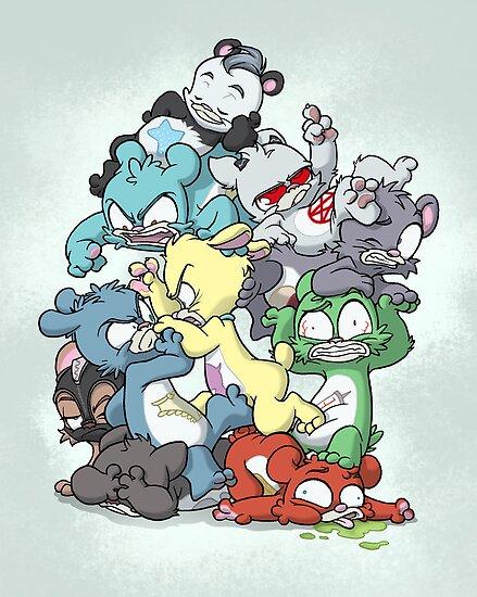 Bear Pile by dooomcat
