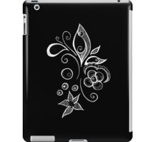 Black and White Sea Leaves iPad Case/Skin