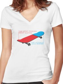 Skateboard infographic Women's Fitted V-Neck T-Shirt