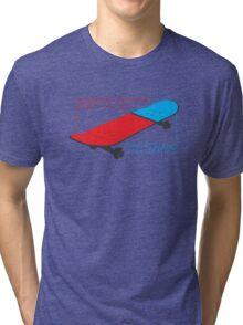 Skateboard infographic Tri-blend T-Shirt