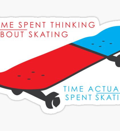 Skateboard infographic Sticker