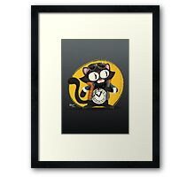 Time-Cat Framed Print