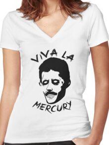 Zombie Freddie Mercury Women's Fitted V-Neck T-Shirt