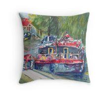 Narrowboats, Bradford on Avon. Throw Pillow