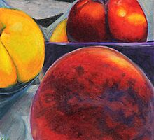Stoned Fruit in Color Pencil by Amy-Elyse Neer