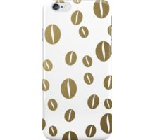 Gold coffee pattern iPhone Case/Skin