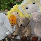PJ Bear Meets New Friends by aussiebushstick