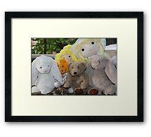 PJ Bear Meets New Friends Framed Print