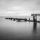 Monochrome Mentone Jetty by Shari Mattox