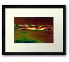 heard of ridding Dragon Lights from car lights red version Framed Print