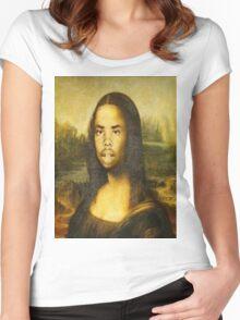 Earl Sweatshirt Mona Lisa Women's Fitted Scoop T-Shirt