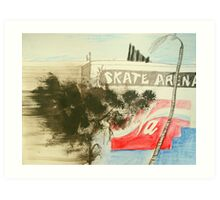 skate arena red hill Art Print