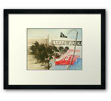 skate arena red hill Framed Print
