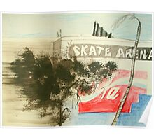 skate arena red hill Poster