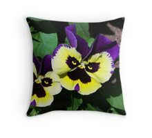 Pansy Twins Throw Pillow