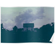 The Church Under Cloudy Skies Poster