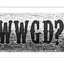 WWGD? Skateboard Sticker