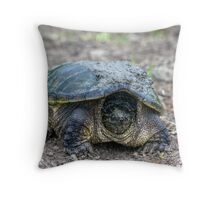 Snapping Turtle V Throw Pillow
