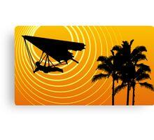 sunscene hang glide Canvas Print