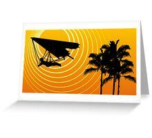 sunscene hang glide Greeting Card