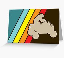 retro all terrain vehicle Greeting Card