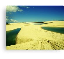 3 Lakes on Yellow Dunes - Jericoacoara, Brazil Canvas Print